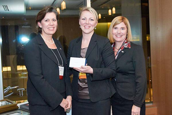 Rachael Streek-Buma is presented with the Site Canada Volunteer Champion Award <br>Photo Courtesy of The Image Commission
